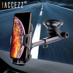 !ACCEZZ Adjustable Car Holder For iphone X XR XS MAX Huawei Samsung Xiaomi Universal Phone Auto Lock Glass Center Control Stand