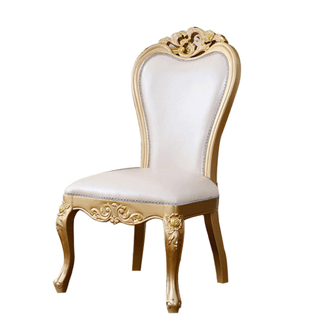 the new european style wood chairs leather chair champagne dining