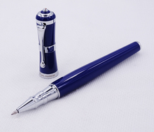 Fuliwen 2051 Metal Rollerball Pen, Fresh Fashion Style Fine Point 0.5mm Beautiful Blue for Office Home School, Men and Women