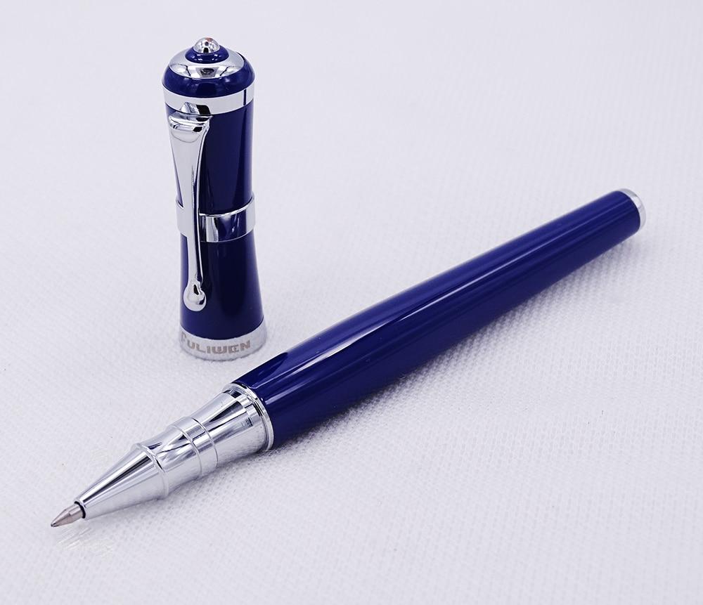 Fuliwen 2051 Metall Rollerball Stift, Frische Mode Stil Fine Point 0,5mm Schöne Blau für Office Home Schule, männer und Frauen