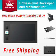Best price Promotion New Huion DWH69 Wireless LCD Screen Graphic Tablet Kids Drawing Board Digital Pen Tablets Professional Pannel Black