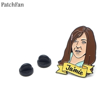 Patchfan Jamie letter Metal Zinc Enamel pins Trendy medal para backpack shirt clothes bag brooches badges men women gifts A1797