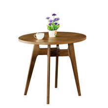 Coffee Tables Living Room Furniture Home Furniture solid wood round tea table basse minimalist modern desk side table 79*79*71cm(China)