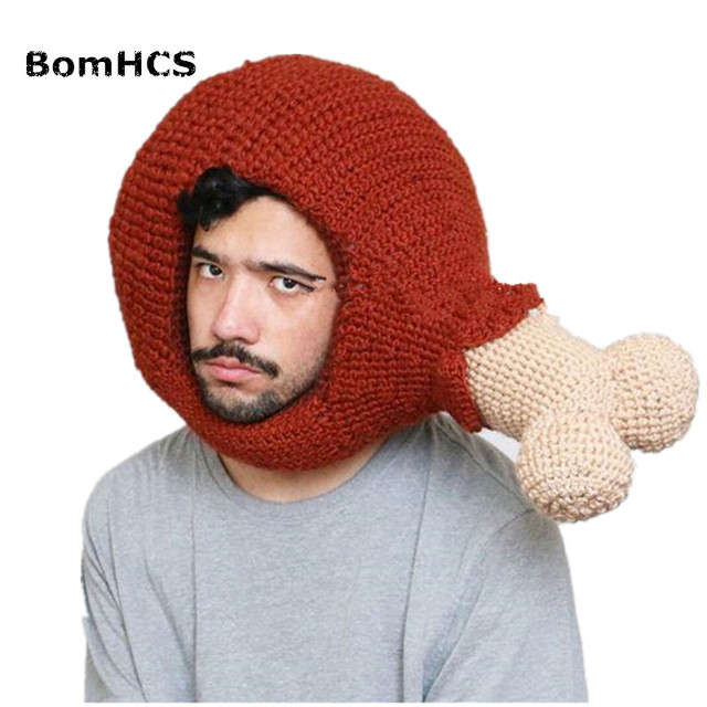 049428138 US $33.98 |Aliexpress.com : Buy BomHCS Funny Fresh Grade Legs Winter  Handmade Knitted Beanie Hat Halloween Gift from Reliable knit beanie hat ...