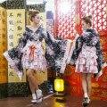 Японский Винтаж Оригинал Традиция Шелковый Кимоно Юката Платье с Оби Сексуальные костюмы