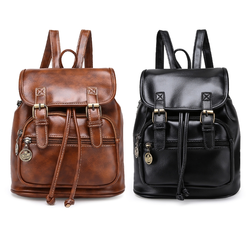 Fashion Women Business 910B Travel Drawstring Pu Leather Retro Backpack Waterproof Sports bag linvel 8336 13