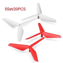 5 Set Syma X5C X5 JJRC H5C 20PC 3 Blade Propeller White & Red
