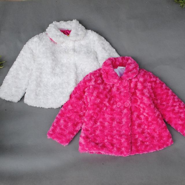 2-8 años de edad de lana abrigo de invierno rose niños traje de la alta calidad winter hot sale niños ropa marca vetement bebe garcon