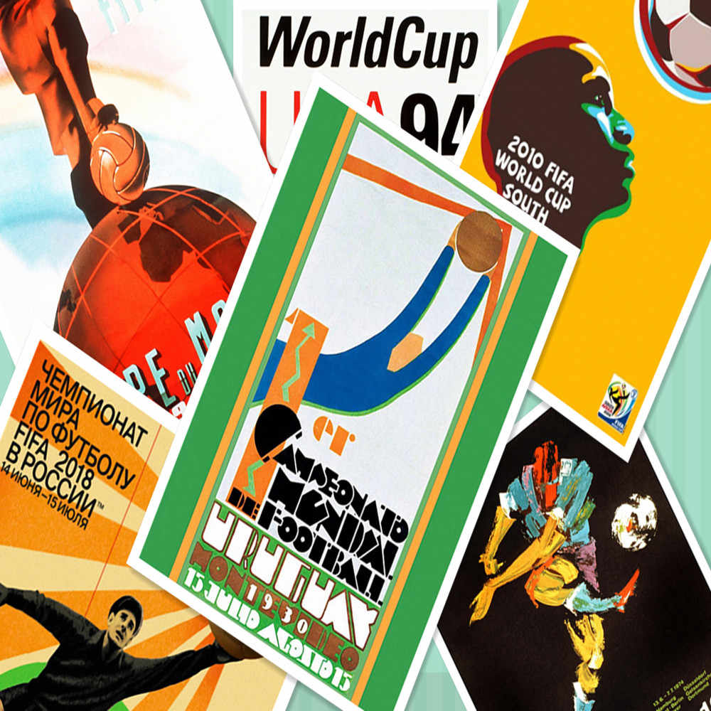 Nostalgia Vintage World Cup Poster Football Mascot 30X42 CM  Retro Matte Kraft Paper Wall Stickers Painting Boy Room Decoration