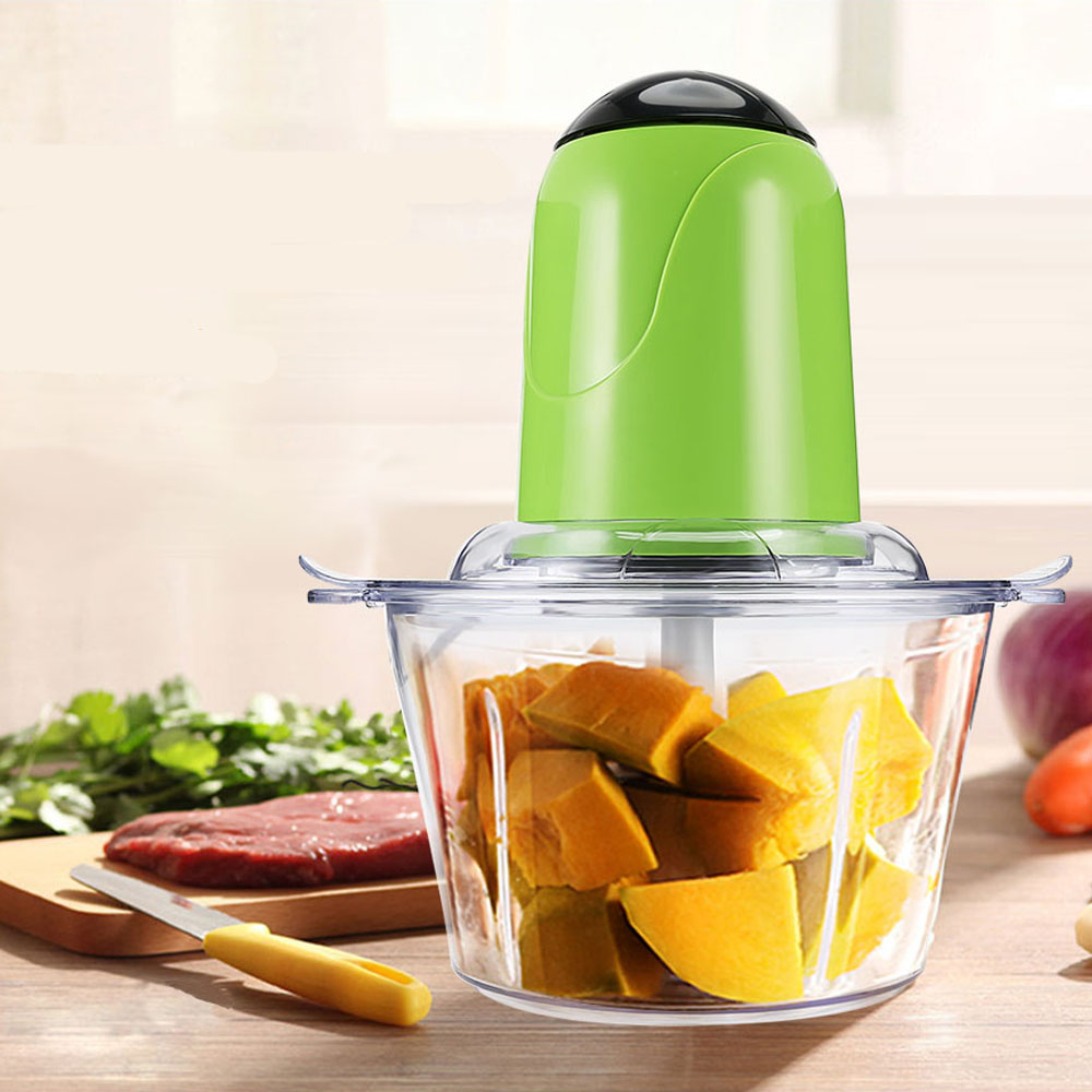 2L Electric Kitchen Meat Grinder Chopper Cocina Shredder Food Chopper Stainless Steel Electric Household Processor Kitchen Tool