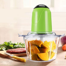 2L Electric Kitchen Meat Grinder Chopper Cocina Shredder Food Chopper Stainless Steel Electric Household Processor Kitchen Tools(China)