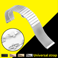 Faixa de relógio de aço inoxidável 316l pulseiras pulseiras correia cinto fio net para 18/20/22/24mm relógio para iwc hamilton tudor + ferramentas
