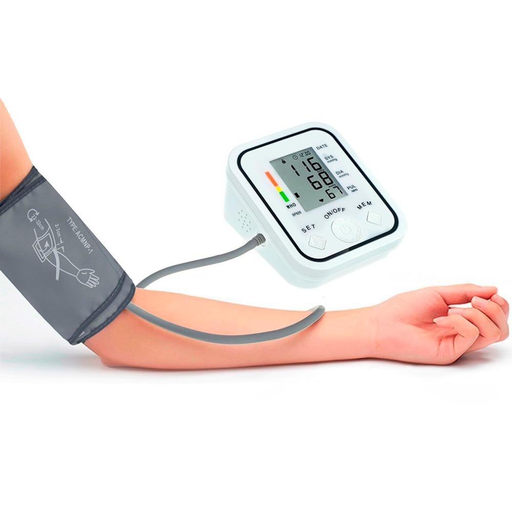 Home Health Care BP826 LCD Screen Display Digital bp Blood Pressure Measure Monitor Meter Sphygmomanometer Cuff NonVoice White