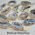 New! Natural slice geode agate pendants, druzy agate geode pendants in free shipping