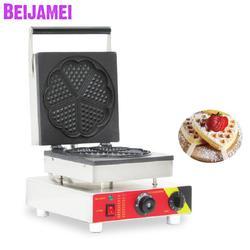 BEIJAMEI wysokiej jakości restauracja Tabletop elektryczny kształt serca maszyna do robienia gofrów handlowych wafel kształt serca cena maszyny w Waflownice od AGD na