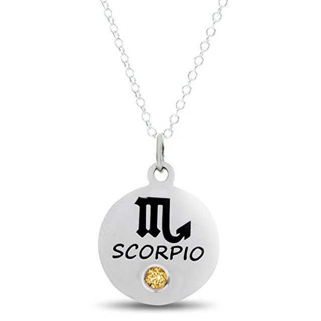 e181bfd892ed Zodiaco Escorpio collar nombre personalizado 2018 de Escorpio joyas collar  de mejor regalo de cumpleaños para