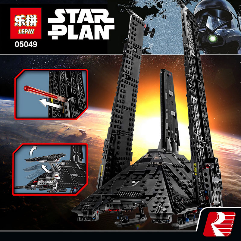 NEW 863Pcs Lepin 05049 Star War Series 75156 The Imperial Shuttle Building Blocks Bricks Toys Compatible with lego gift kid set lepin 22001 pirates series the imperial war ship model building kits blocks bricks toys gifts for kids 1717pcs compatible 10210