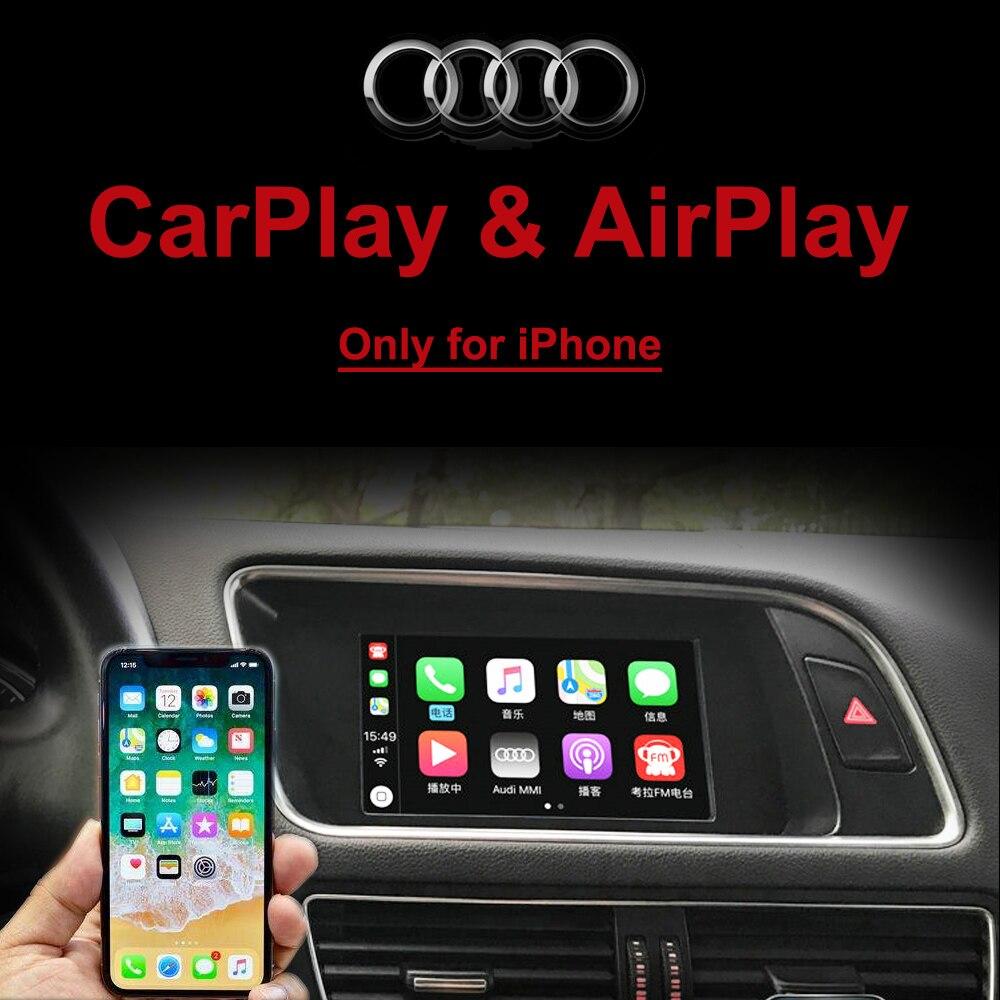 Carplay Box per Audi A4 A6 A5 B9 Q5 Dello Schermo Originale di Aggiornamento del sistema MMI AirPlay Video Interfaccia con Dinamica di Parcheggio linea guida