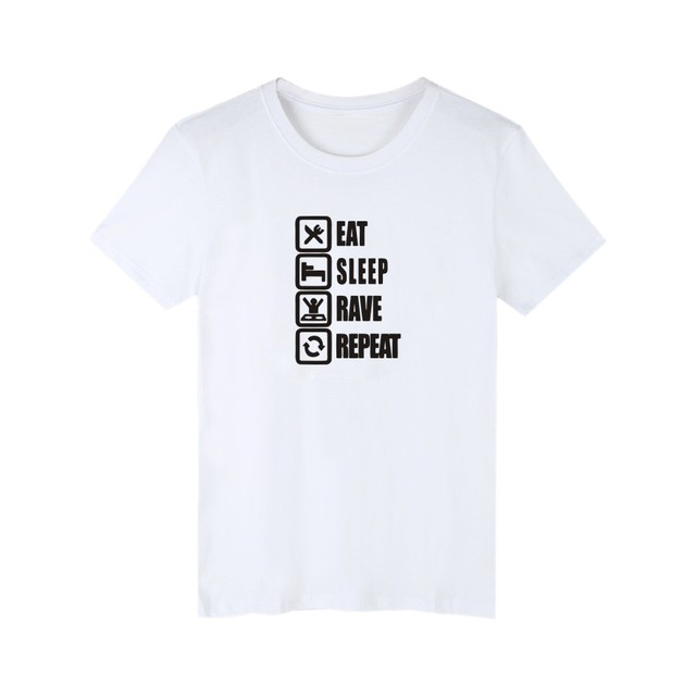da3456aa0732 Eat Sleep Game 3XL White T-Shirt Men O-Neck in 100 Cotton Tee Shirts Men  Street Wear Style T Shirt Men Luxury Brand Black  Gray