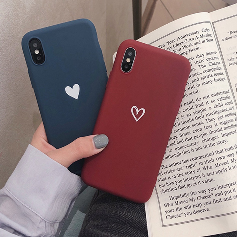 For <font><b>OPPO</b></font> F9 F5 <font><b>Case</b></font> Love Heart Print Back Cover For <font><b>OPPO</b></font> A3S A5 R17 R15 Pro A83 A59 <font><b>A37</b></font> A39 Retro Lovely Matte <font><b>Soft</b></font> TPU <font><b>Cases</b></font> image