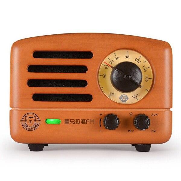 Maowang Maoking Ретро дизайн Hi-Fi bluetooth динамик с FM радио