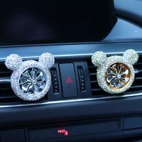 car air outlet Car-encrusted air outlet Air Force No. 8 diamond-encrusted air outlet perfume clip Car creative decoration (4)