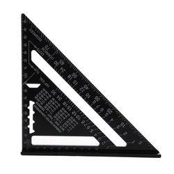 7 Cal miarka metryczna ze stopu aluminium prędkość dachowa trójramienny kątomierz w Mierniki ultradźwiękowe od Narzędzia na