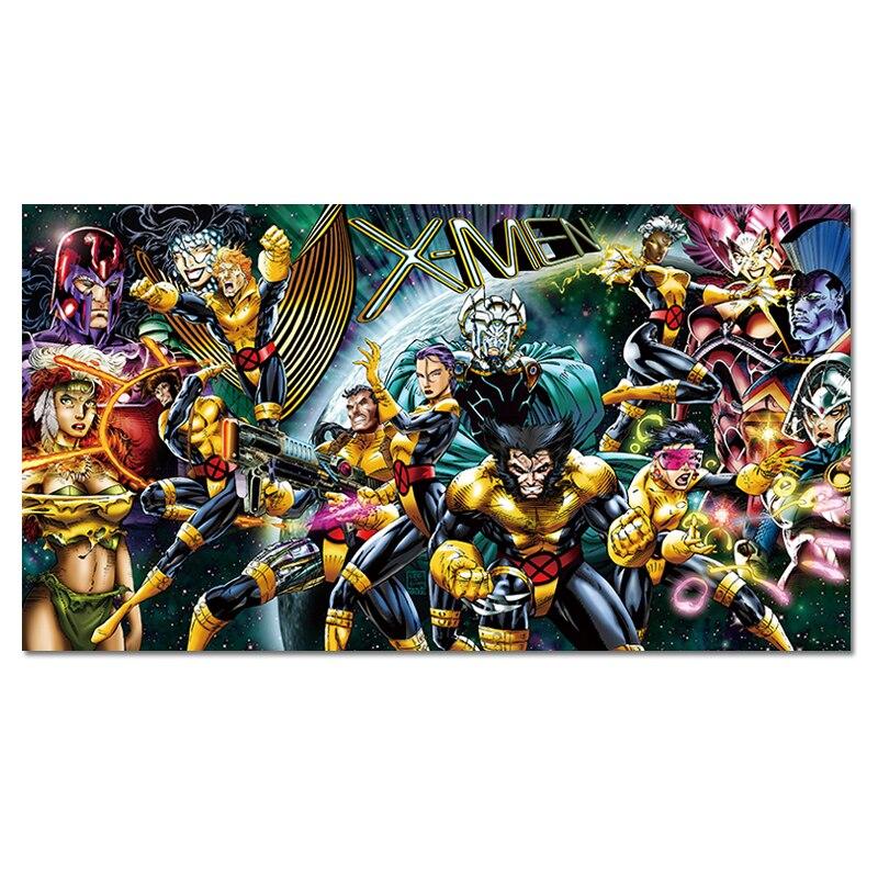 X-MEN Супергерой Комиксов Marvel плакат Приключения Фэнтези борьба герои Холст Картина Большой Спальня детская комната Настенный декор