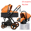 Luxus Baby Kinderwagen 3 in 1 Hohe Qualität Baby Pram Kann Sitzen Können Liegen Baby Kinderwagen