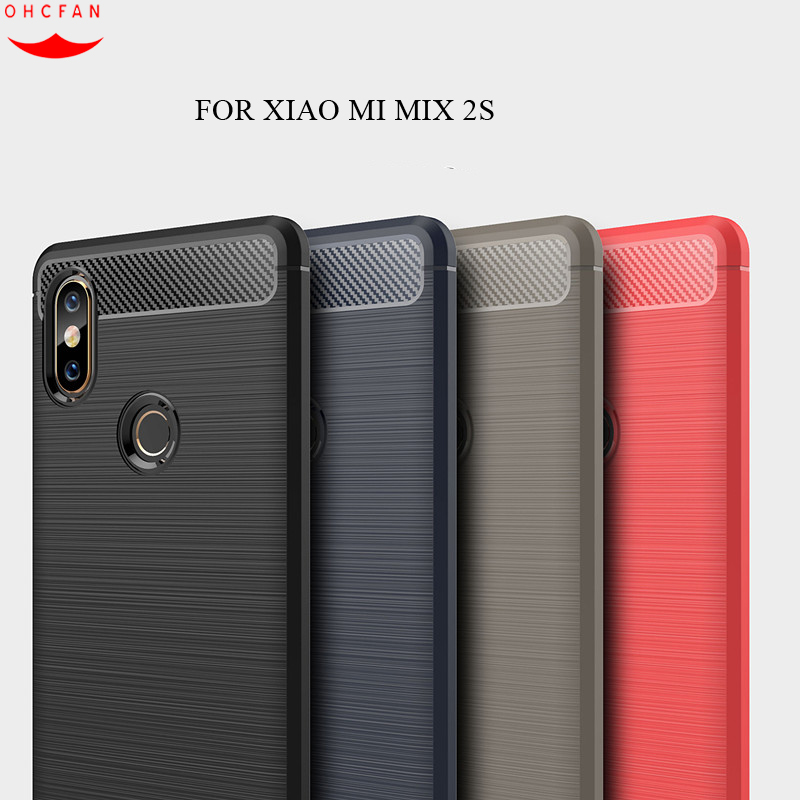 Silicone Phone case For Xiaomi Mi Mix 2s cases Anti-knock Soft TPU Brushed Rugger Rubber For Xiaomi Mi Mix 2 s Phone bag