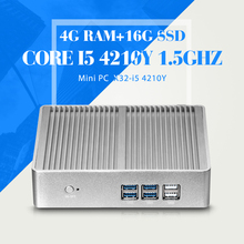 Mini PC Tablet I5 4210Y 4G RAM 16G SSD WIFI Desktop Computer Htpc Cheap Mini Desktop PC Windows 7 Ubuntu