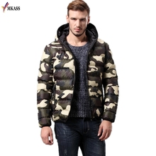 2017 New Fashion Men Winter Jacket Coat Camouflage Cotton Padded Windproof Thick Warm Brand Hooded Male Vers Le Bas Down Parkas