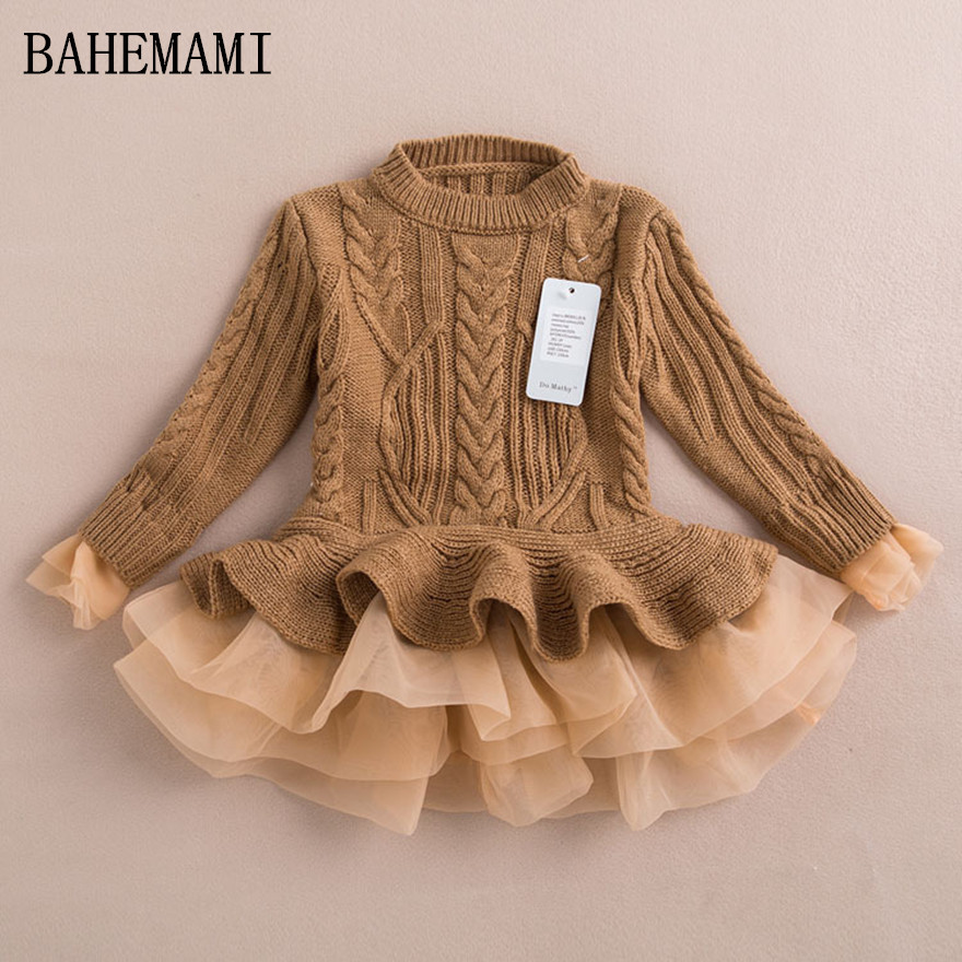 2017 newThick Warm Girl Dress Christmas Wedding Party Dresses Knitted Chiffon Winter Kids Girls Clothes Children CLothing Girl D запонка kenzo стальные запонки 7011457 16 02 000