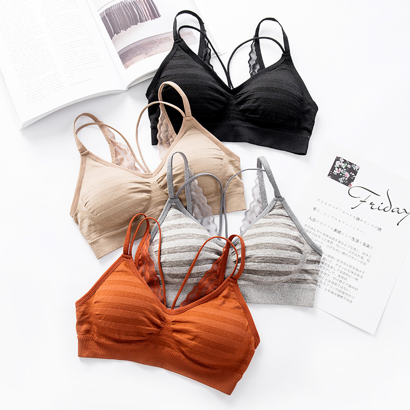 Female spring summer lace beauty back wrapped chest tube top ladies V type bottoming underwear ice cool breathable wrapped chest in Tube Tops from Underwear Sleepwears