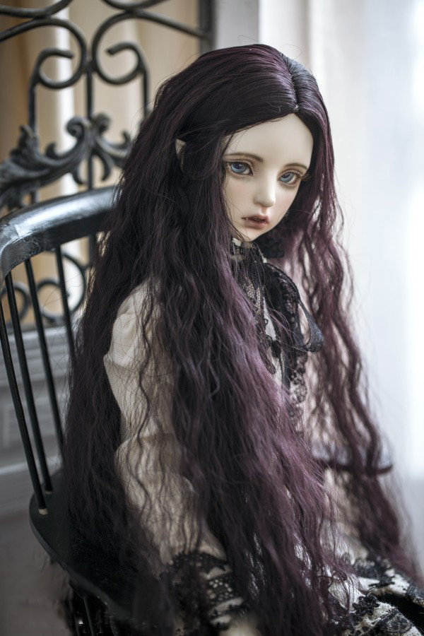 Doll wigs long wave hair high temperature wire available for 1/3 BJD DD SD doll accessories doll hair wigs 21-24cmDoll wigs long wave hair high temperature wire available for 1/3 BJD DD SD doll accessories doll hair wigs 21-24cm