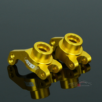 2pcs LC Racing High Quality 1 14 Car Upgrade Accessories L6084A Metal Golden Rear Axle Rear