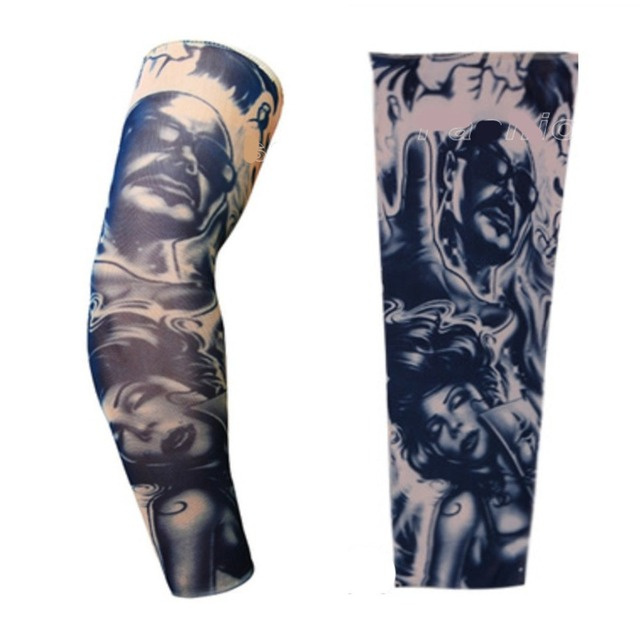 Styles Elastic Fake Tattoo Sleeves Eagle Fight Snake Pattern Arm Stockings 3D Art Designs Tatoo Men-Women