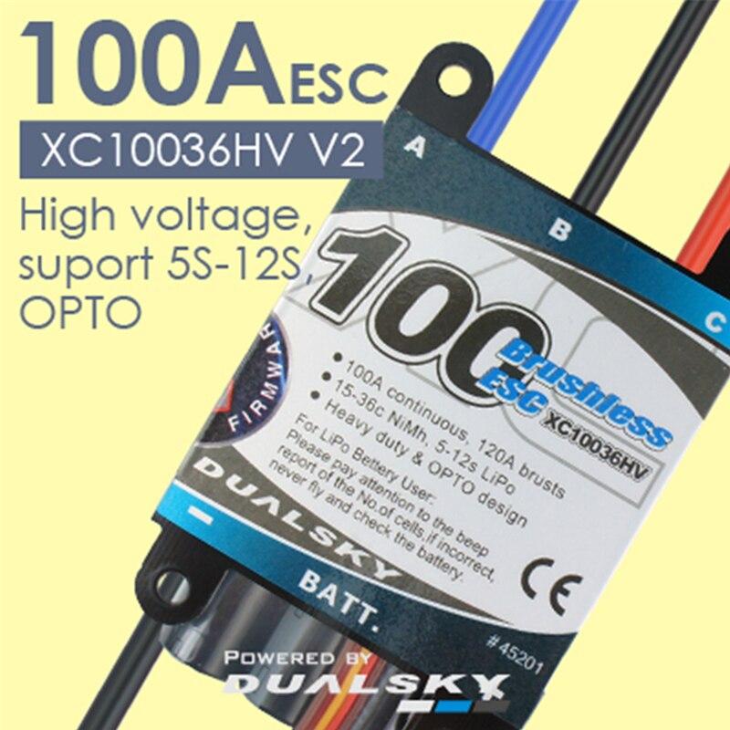 Oyuncaklar ve Hobi Ürünleri'ten Parçalar ve Aksesuarlar'de DualSky XC10036HV 100A ECS HV 5 12 s lipo RC Araba RC Modeli'da  Grup 1