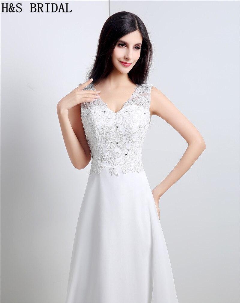 V ausschnitt A linie Brautkleider Spitze Perlen hochzeit kleider ...