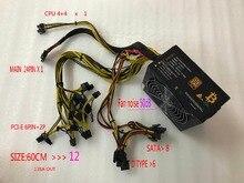 Eth zcash Шахтер золото мощность kenwei 1800 Вт с кабелем питания Eth Шахтер питания для R9 380/390 RX 470/480 RX 570/580 6 GPU карты