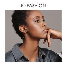 ENFASHION Punk Geometric Stud Earrings For Women Big Three Dimensional Long studs Earings Fashion Jewelry 2019 oorbellen EC1034 недорого