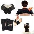 5 pçs/lote Turmalina, Cinto de Massagem de aquecimento joelheira terapia pescoço, apoio cintura almofada de ombro joelheira térmica ultra-fino