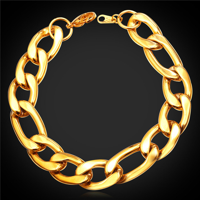 Men Figaro Chain Bracelet...
