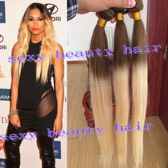 Online shop hot sale 5a ombre hair extensions two tone human hair hot sale 5a ombre hair extensions two tone human hair weave blonde ombre straight colored 6613 perfect queen hair products pmusecretfo Gallery