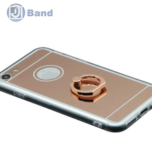 100pcs/lot Free DHL Soft Silicon PC+ TPU Crystal Transparent Ring Stand Back Phone Cover Case For iPhone 7 / 7 plus