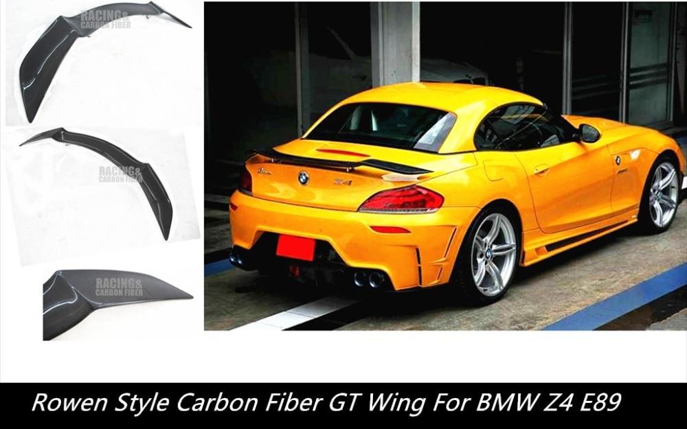Rowen Style Carbon Fiber Trunk Spoiler Wing For Bmw E89 Z4