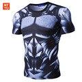 Nuevos Hombres de La Manera 3d camiseta Flexibles rápida armadura mecánica 3D camiseta impresa camisa de compresión de Fitness camiseta