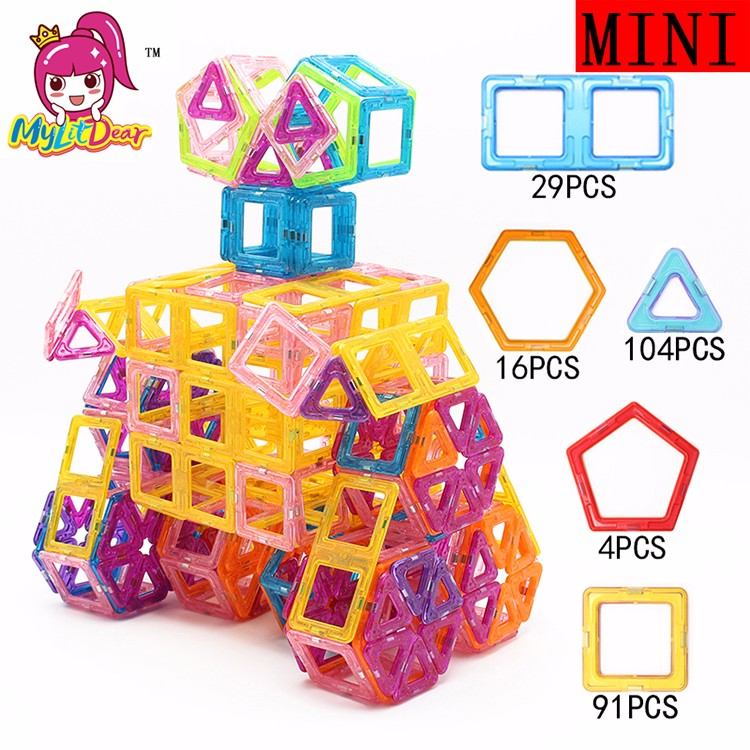 ФОТО 244pcs Mini Magnetic Blocks WALL-E Models Bricks Educational Magnetic Designer Toy 3D DIY Building Blocks Toys for Children Gift