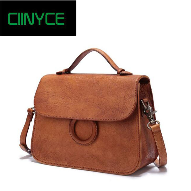 New Designer Handbags Satchel Genuine Cow Leather Totes Crossbody Bags Single shoulder Vintage Women's Solid Hasp Hard Bags 1 6pcs 35mm od x 32mm id x 1000mm 100