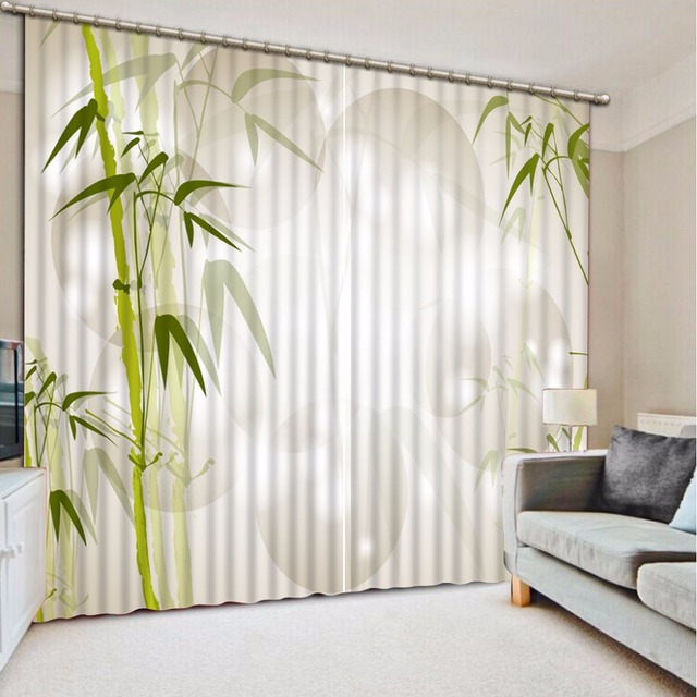 US $76.5 49% OFF|Window Blinds bamboo Curtains For The Bedroom Home Decor  Living room Children Room Blackout 3D Curtains -in Curtains from Home & ...